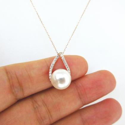 Rose Gold Cubic Zirconia Teardrop E..