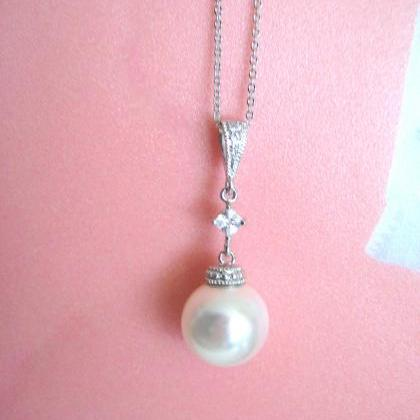 Bridal Pearl Necklace Swarovski 12m..
