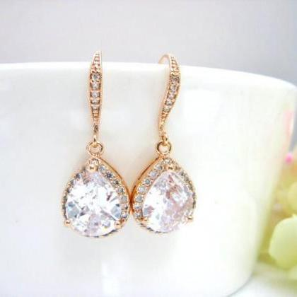Lux Cubic Zirconia Earrings Teardro..