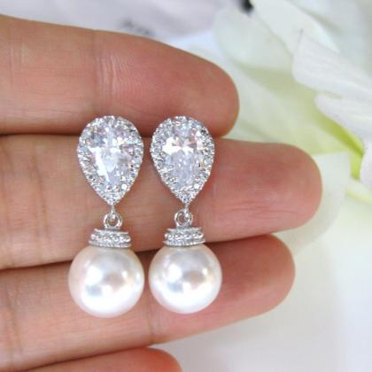 Bridal Pearl Earrings & Necklace Gi..