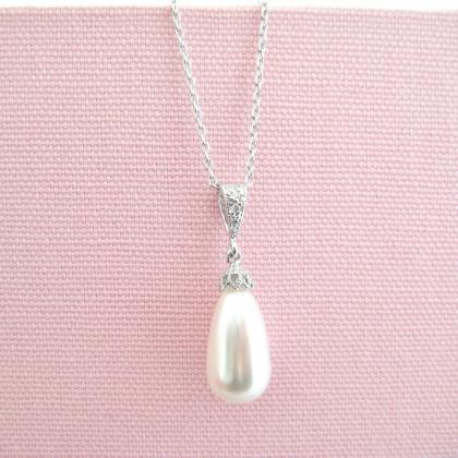 Bridal Pearl Necklace Wedding Pearl..