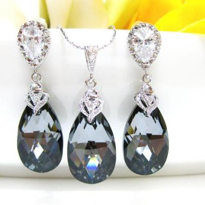 Silver Night Black Swarovski Crysta..