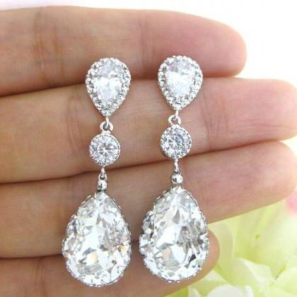 Bridal Teardrop Necklace Swarovski ..